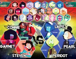 Steven Universe - Fighting Gems Character Select by xeternalflamebryx
