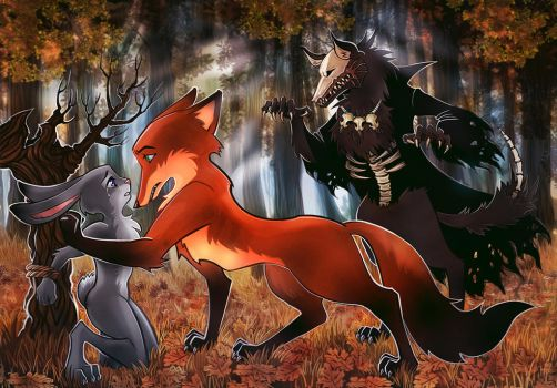 Zootopia Commission: Nick and Judy's Nightmare by maXKennedy