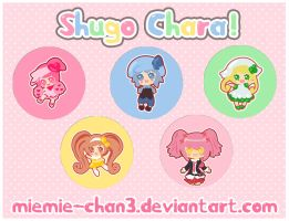 Shugo Chara Cute Button Badges by miemie-chan3