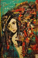girl collage by thorneater