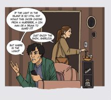 Sherlock at Molly's by LamechO
