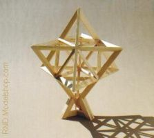 Star Tetrahedron wood by RNDmodels