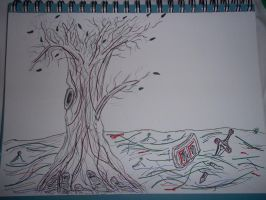 Swamp Scene Simple Drawing by lordgarth6