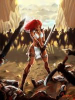 Red Sonja by mansarali