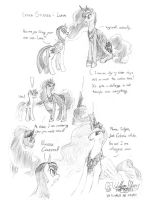 Luna and Celestia Studies page1 by meto30