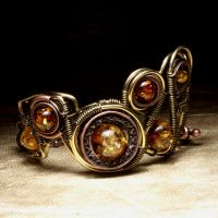 Steampunk Bracelet EPIC I by CatherinetteRings