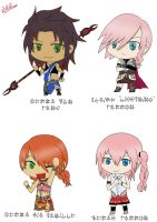 Final Fantasy XIII Girls Chibi by NoYuki-Farron