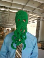 Crochet Cthulu Hat by Oracle-TsukiaKARI
