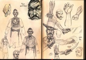 bill the butcher sketch pages by ZachSatherArt