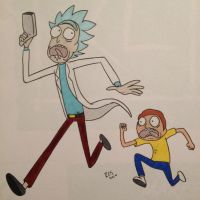 Run Rick and Morty by Detective-Shep