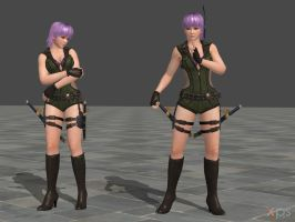 DOA5 Ayane Costume 08 Battlesuit 2 by rolance