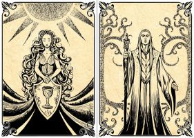 Playing Cards:  The Lady - The Elf Lord by Lythilien