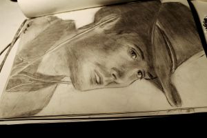 Cowboy Dean Winchester Sketch by svesh95