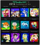 2016 Summary of Art by TXToonGuy1037 by TXToonGuy1037