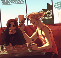 Lunch at the local by BritishMuffin