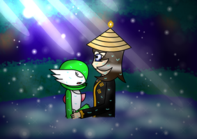 Galaxian-Ninja commision: the calm by Trifong