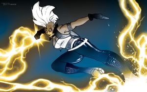 Storm Lightning Kick by artist Tom Kelly by TomKellyART