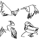 Bird Gestures 1 by littlemisshurricane