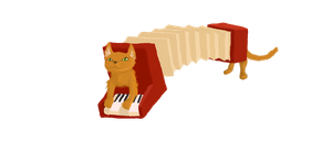 Accordion cat by My-lonesome