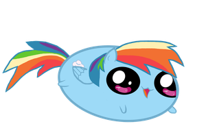Chubby Rainbow Dash: 20% Cuter by theirishbronyx