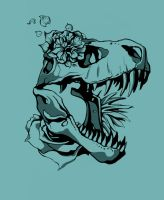 T-Rex T-shirt design by Cookiee1991