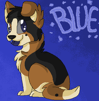 Blue Drawn Mouse and Paint by 4DAMANT