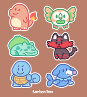 Pokemon Stickers by BonbonBox