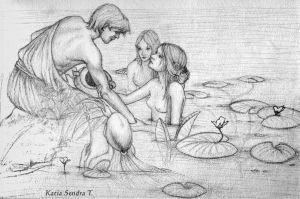 Hylas and the Nymphs by KatiaST