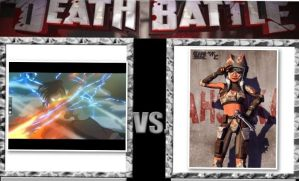 Test death battle: Korra vs Ahsoka Tano by Cultureghost