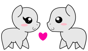 Mlp little pony i love you to female and masculino by viexy