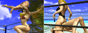 Paradise Match Becky and Reiko Hinomoto by DreamCandice
