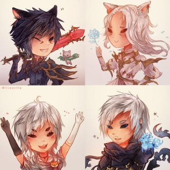 ffxiv: Chibi Icons ! by Fiveonthe