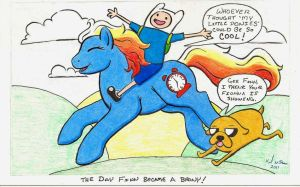 Adventure Time Brony by KimmersCustoms