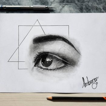 eye drawing by almberger