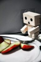 Danbo wants to eat by GamerFromHell