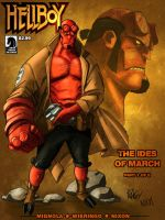Wieringo's Hellboy colored by Spydormonkey