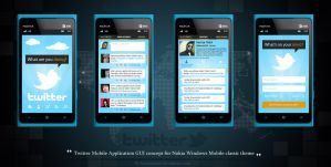 GUI Concept of Twitter Nokia Windows Mobile by hamzahamo
