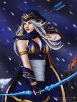 Ashe, the frost archer by Zekiryu