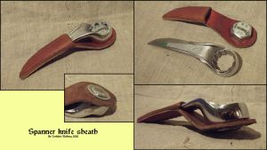 Spanner knife sheath by Noctiped