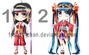 Adoptable - in Japanese style outfit by Fruitee-Chan