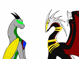 Zirra and Soulkill-The Adalisk and the Angel by ShardianofWhiteFire