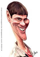 Jim Carrey caricature by jupa1128