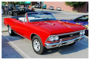 Cool Red Chevelle Convertible by TheMan268