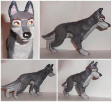 Balto sculpture by Tedimo