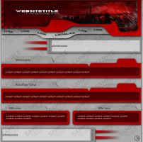 Red,Grey,Black WebTemplate by smosh