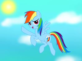 Rainbow Dash- Soaring Through The Clouds by Ask-ThePonyQueen