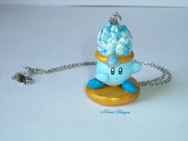Ice Kirby Pendant Necklace Handmade Custom OOAK by TorresDesigns