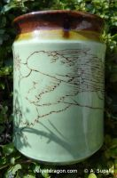 Leaping Gryphon Vase, Wing Detail by tser