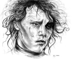 Edward Scissorhands Portrait 2 by MonsterTeacup