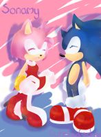 Amy and Sonic by Cute-Hedgehog